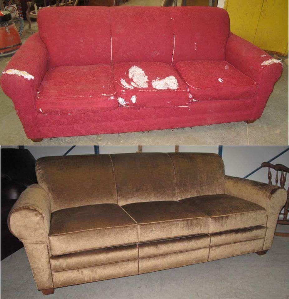 реставрация мягкой мебели фото до и после солдаты стоят
